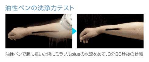 油性ペンの洗浄テスト