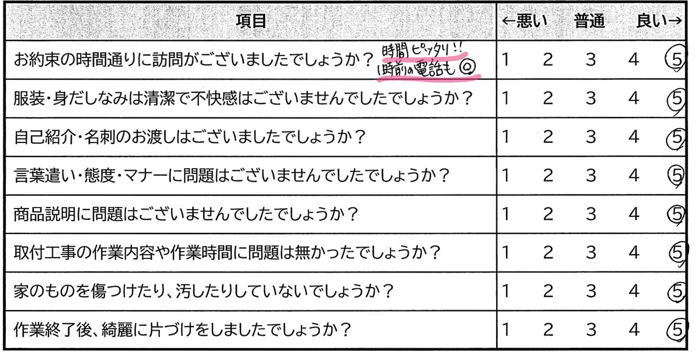 大阪府40代女性のお客様からの評価