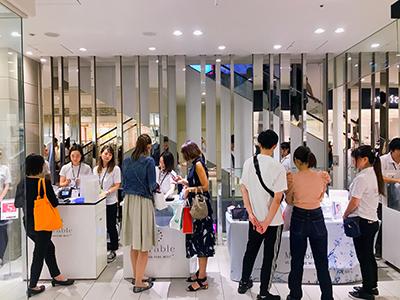 ルクア大阪での当社主催体験イベント風景写真